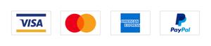 PayPal, Master, Visa and American Express